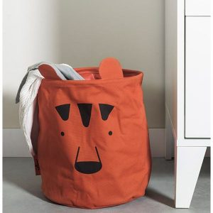 Baby Jollein Mand Canvas Animal club rust