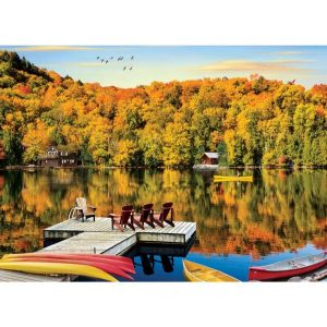 Puzzels Puzzel – Lakeside Cottage Quebec 1000 stukjes [tag]
