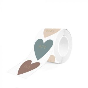 Cadeaupapier Stickers Multi – Baby Heart Text – Gold