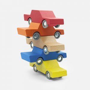 Houten Speelgoed Waytoplay Back and Fort car – Blauw